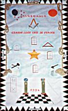 """Tableau de loge magistrale """"Grande Loge Unie de France"""""""